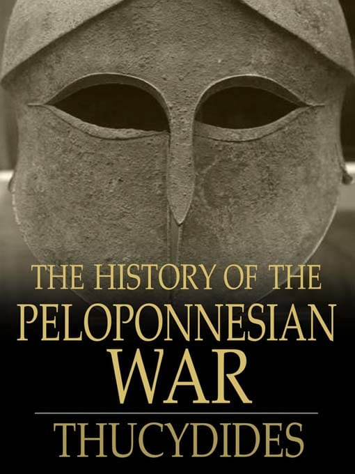 History of the peloponnesian war by thucydides, book cover.