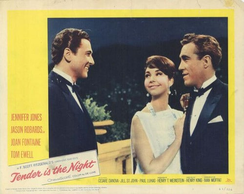 tender is the night vintage movie poster