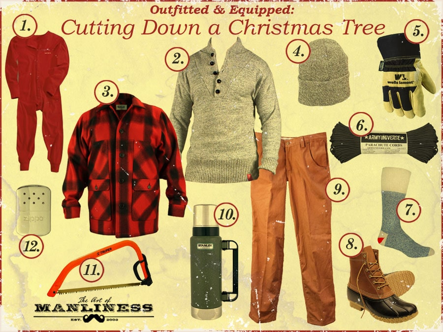 what to bring wear for cutting down a christmas tree
