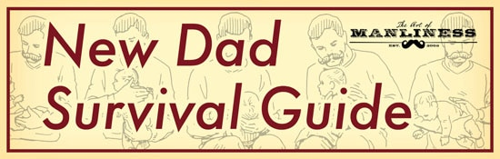 new dad survival guide how to hold baby illustration