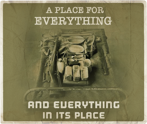 place for everything everything in its place aphorism