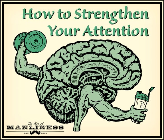 brain lifting weight and drinking power shake illustration