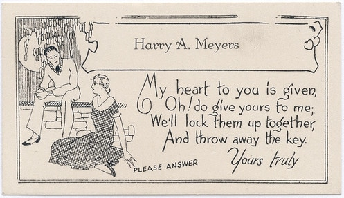 Vintage 19th century 1800s calling card for Haxxy A. Meyers.