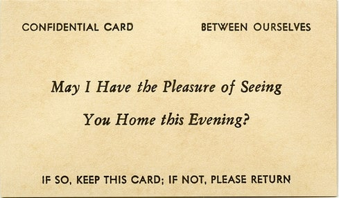 Vintage 19th century 1800s calling card.