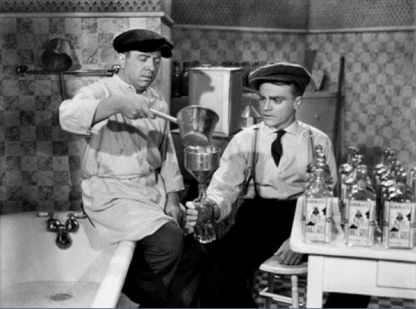 James Cagney making bathtub gin in The Roaring Twenties