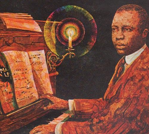 scott joplin painting jazz musician pianist playing piano