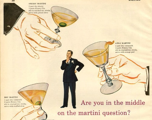 vintage martini gin vodka ad advertisement