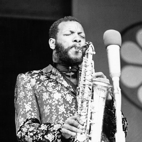 ornette coleman jazz musician saxophonist playing saxophone