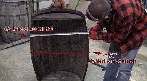 Whiskey barrel chest.