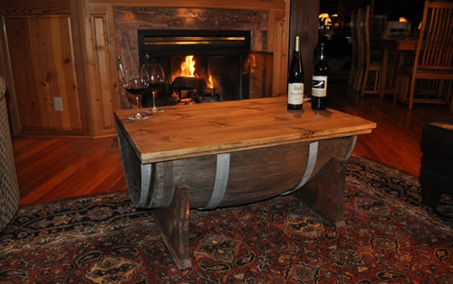 How To Make A Coffee Table From A Whiskey Barrel The Art Of Manliness