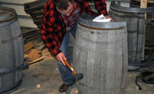 How to make whiskey barrel furniture.