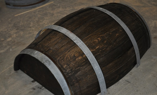How to make a whiskey barrel table.
