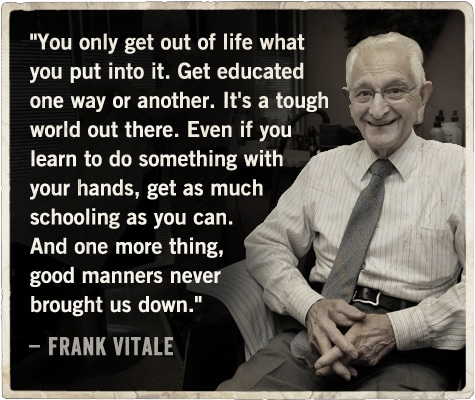 life advice from barber on being a man frank vitale