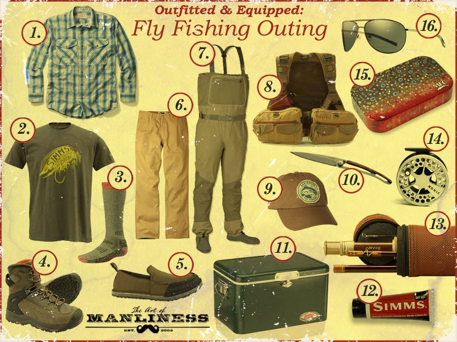 what to wear gear for fly fishing outing