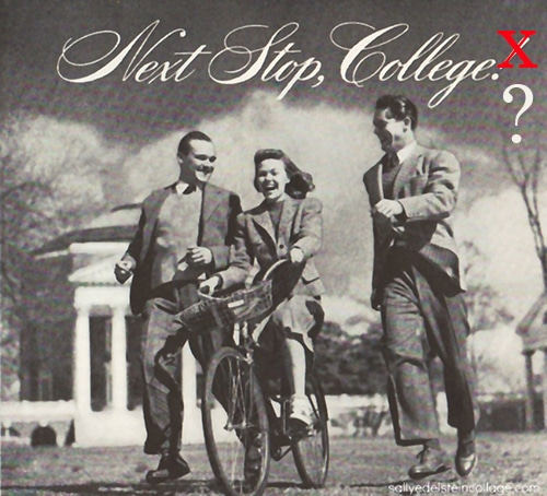 vintage college ad advertisement next stop college