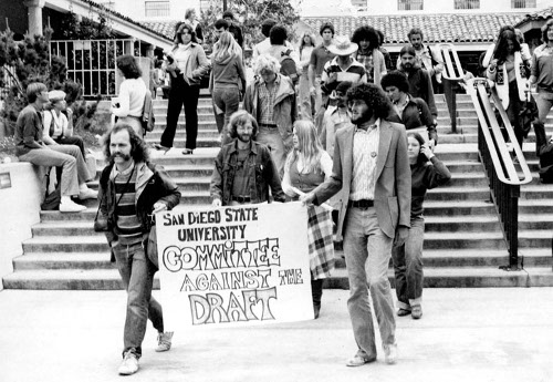 San Diego state university committee against draft vietnam war protest.
