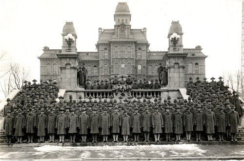 Vintage student army training corps, Syracuse University.