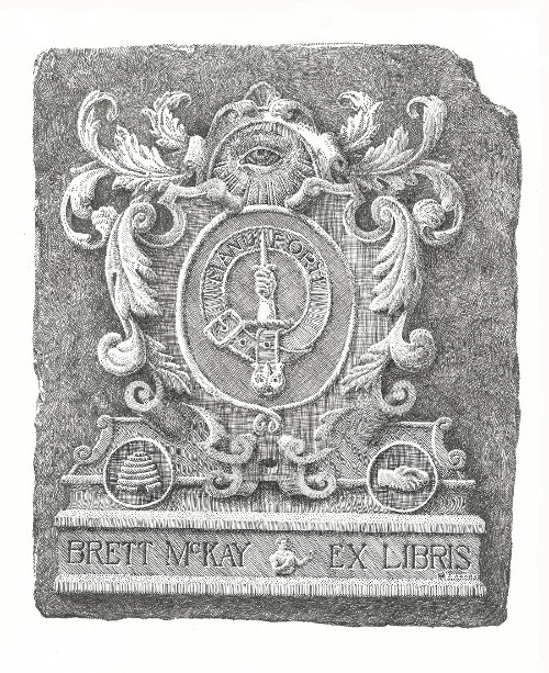 A bookplate by Brett McKay.