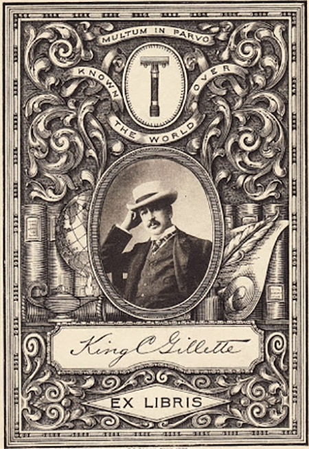 King Gillette Bookplate ex libris