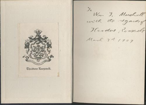 theodore teddy Roosevelt Bookplate ex libris