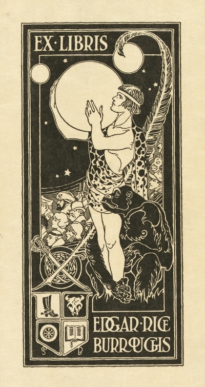 A bookplate by Edgar Rice Burroughs.