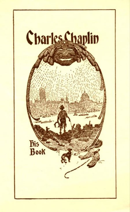 A bookplate by Charles Chaplin.