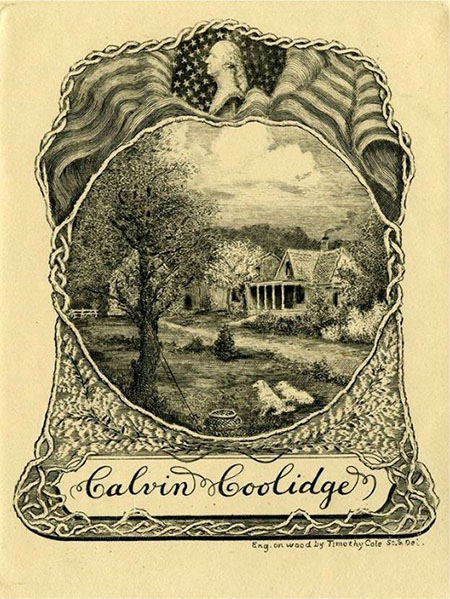 A bookplate by Calvin Coolidge.