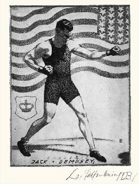 A bookplate by Jack Dempsey boxer.