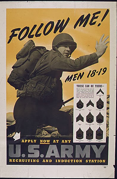 vintage army recruitment ad advertisement follow me