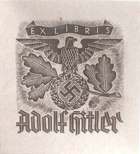 A bookplate by Adolf Hitler.