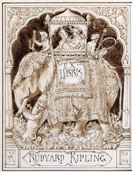 A bookplate by Rudyard Kipling.