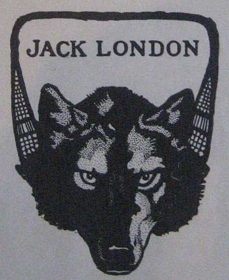 jack london wolf Bookplate ex libris