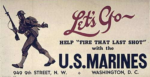 marines marine corp vintage recruiting ad advertisement