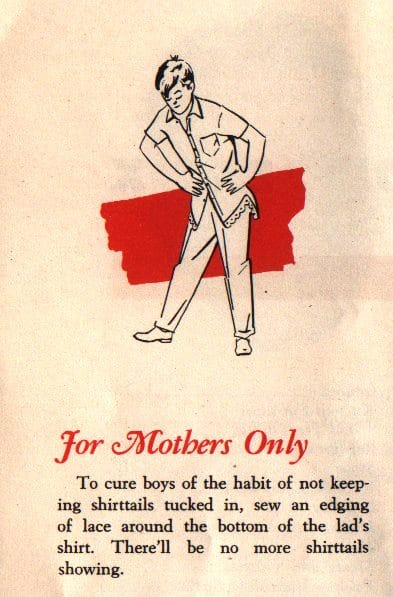vintage ad advertisement for mothers only boy untucked shirt