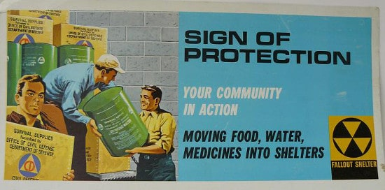 vintage ad advertisement sign of protection moving food water supplies