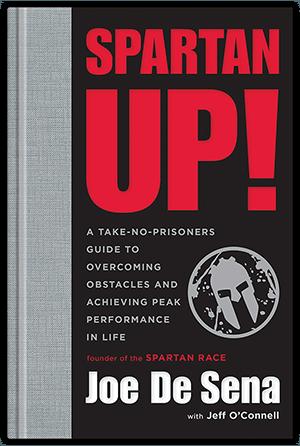 Book cover, spartan up by Joe De Sena.