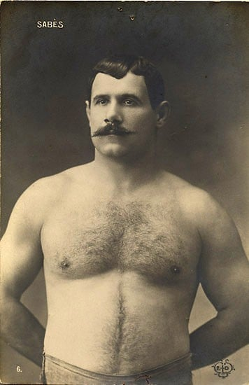 Man showing his chest pose.