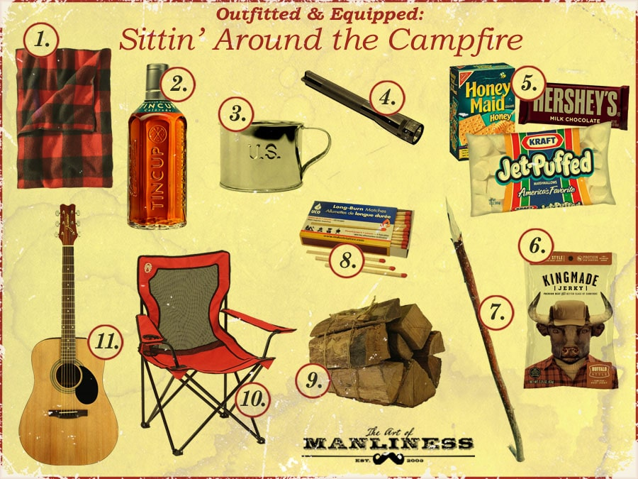 what to drink and eat sitting around the campfire