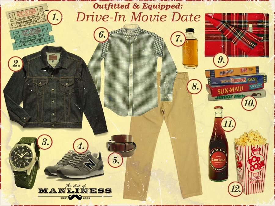 what to wear and bring on a drive-in movie date