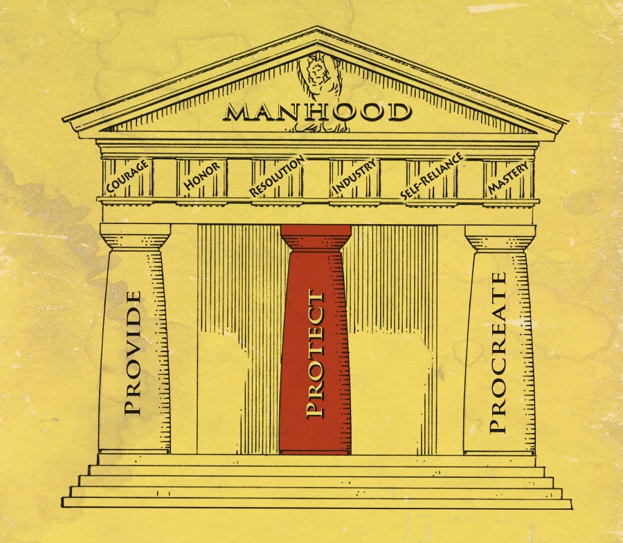 pillars of manhood illustration protect