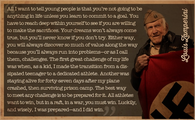 louis zamperini quote commit to a goal