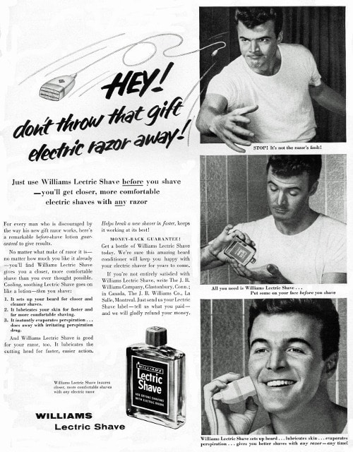 vintage letric shave ad advertisement don't throw electric razor away