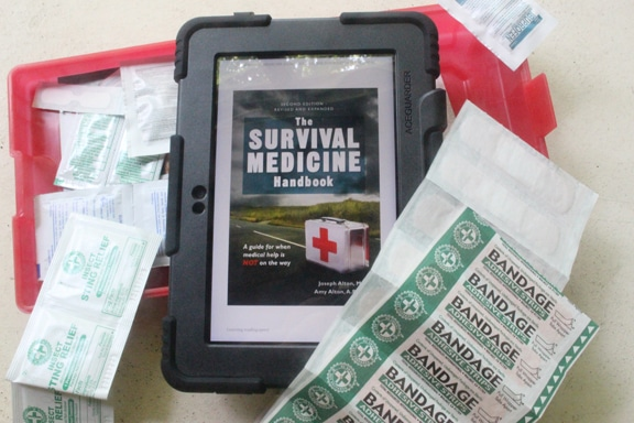 Book Cover,The Survival Medicine Handbook by Joseph and Amy Alton.