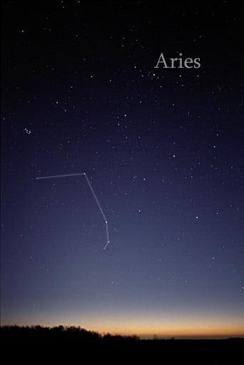 Representation of Aries on sky.