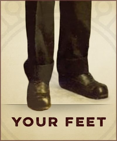 How to be a gentleman by your feet.