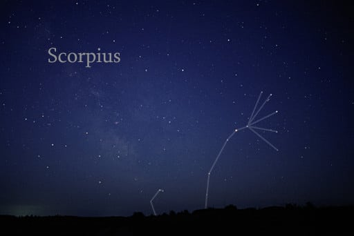 Representation of scorpio on sky.