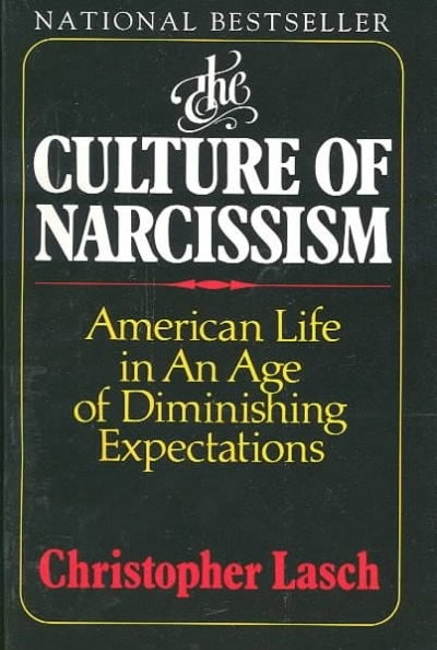 The Culture of Narcissism by Christopher Lasch book cover
