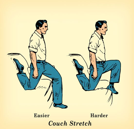 couch stretch exercise undo damage of sitting