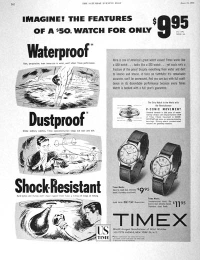 vintage timex watch ad advertisement