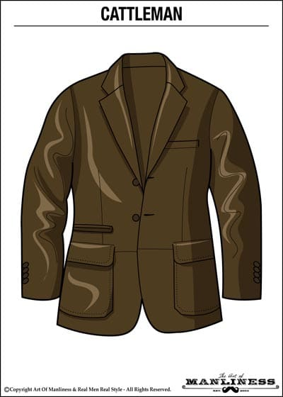 leather cattleman jacket illustration